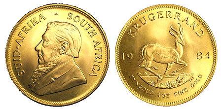 Krugerrand-Sudafricano-de-Oro